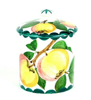 Wemyss -Apples- Antique Large Fruit Preserve Honey Pot Bowl Jar Cover Lid