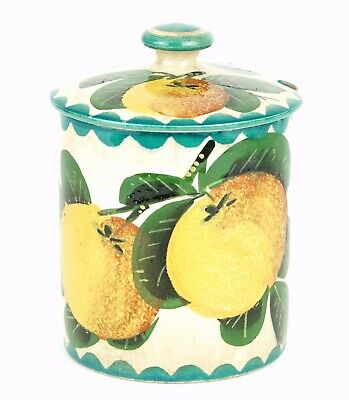 Wemyss -Seville Oranges- Antique Large Fruit Preserve Honey Pot Bowl Jar Cover
