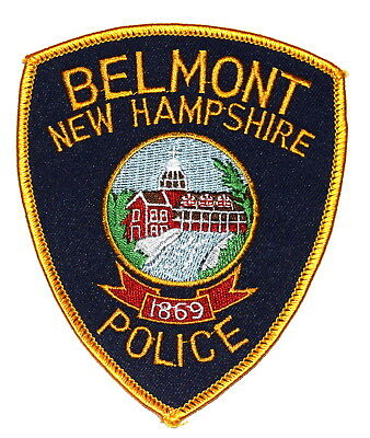 BELMONT NEW HAMPSHIRE NH Police Sheriff Patch WATERFALL DOME CROSS ~