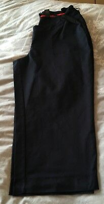 Next Navy Cropped Maternity Trousers Size 16 under bump 👀