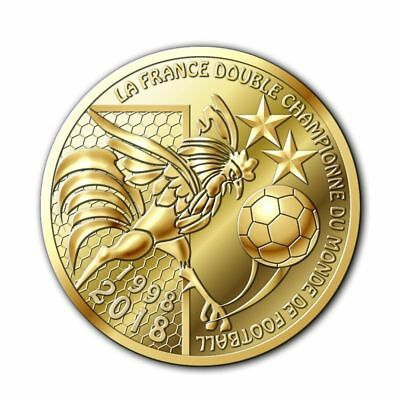 "Médaille FRANCE 2018 ""double championne du monde de football"" monnaie de Paris"