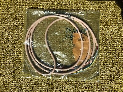 Western Electric / Bell System D6AA-60 Cord - 6 Conductor Spade Tips - Lt. Beige