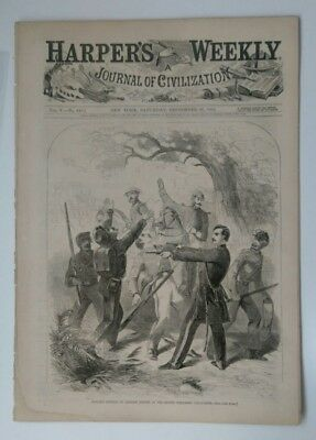 Harper's Weekly 9/28/1861 Civil War  2nd Wisconsin Exploits  interesting cover!