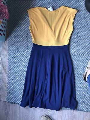 Asos Maternity Dress Size 10 Blue And Yellow