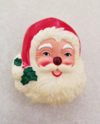 Vintage, 1970's, Santa Claus Light-up Nose Pin!!