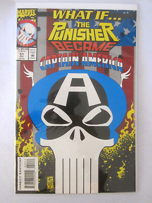 What If... # 51 The Punisher Became Captain America 1993 Marvel Comic Book!