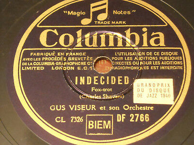 Gus Viseur Orchester - Indecided (Foxtrot) - Columbia 2766