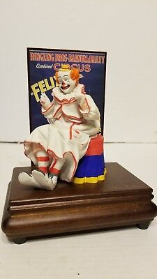 RINGLING BROTHERS & BARNUM BAILEY Circus Felix the Clown Music Box Willitts 1988