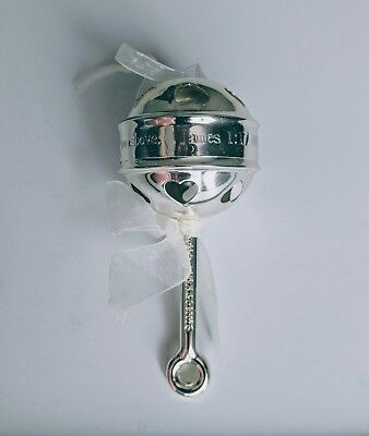 NEW DaySpring Ornament BABY'S FIRST CHRISTMAS Silver Rattle w/ James 1:17
