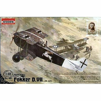 Roden 421 Fokker DVII Alb Early Production 1/48 plastic scale model kit