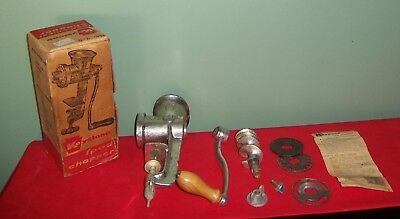 1960's Vintage Keystone Food Chopper  #2-0  with 3 Blades Made in USA