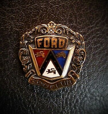 Vintage Ford 300 Club Beautiful Red White & Blue 10K Gold Dealer Award Pin