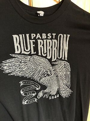 Pabst Blue Ribbon T-Shirt Size, Black, Large