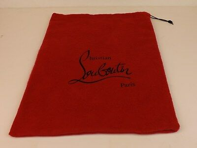 """NEW Christian Louboutin Red Dust Bag for shoes or clutch purse 9 x 14"""""""