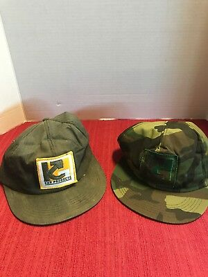Vtg Kar Products K Brand USA Made Trucker Hat Snapback Cap Patch 2for1 RARE LOOK