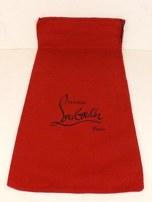 """NEW Christian Louboutin Red Dust Bag for shoes or clutch purse 11.1/4 x 22.1/4"""""""