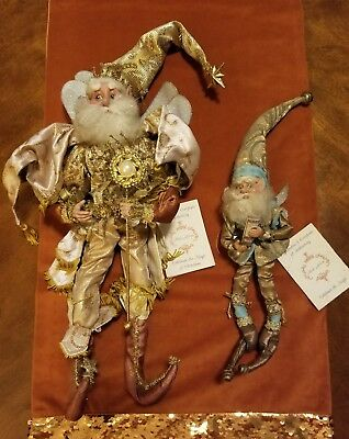 Lot of 2 MARK ROBERTS Christmas FAIRY Fairies Shopping Therapy Guiding Star EUC