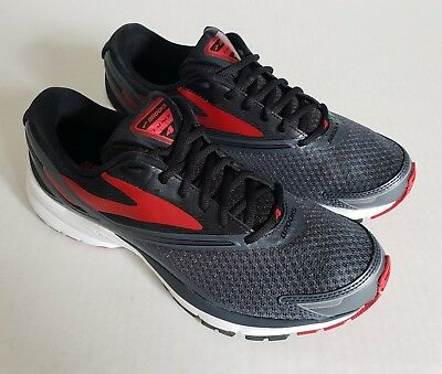 cf5f67bd33a Brooks  Launch 4  Running Shoe in Anthracite Black High Risk Red Men s