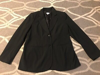 A Pea In The Pod Women's Maternity Black Blazer/ Suit Jacket Size Large