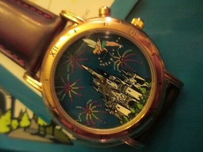 disney peter pan tinkerbell indiglo wristwatch glow in the dark limited watch
