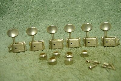 Vintage mid-1960's Kluson Deluxe Double Line Fender Stratocaster tuning pegs set