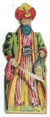 Lion Coffee Children's Dolls With Stories - Blue Beard - late 1800's trade card
