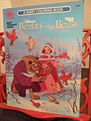 Vintage 1991 Disney's Beauty And The Beast: A Giant Coloring Book