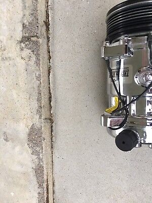 March Performance Air Conditioning Compressor Serpentine Chrome Each P413