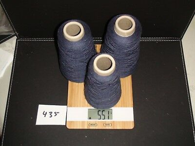Knitting Machine Yarn On Cone 2 Ply Mulberry Wool 515G X 3 Cones