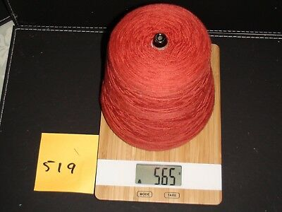 Knitting Machine Yarn On Cone 4 Ply Tomato Red  Wool 565G