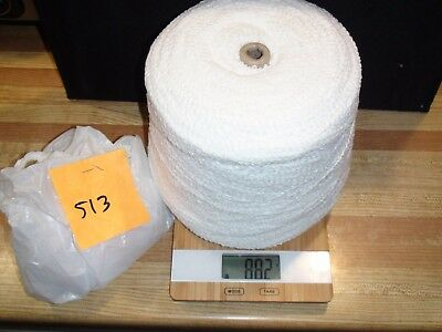 Knitting Machine Yarn On Cone 2 Ply White Cotton Boucle 816 G (343)