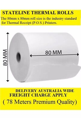 50 . 80mmx80mm Thermal Receipt Rolls ( 78 Meters Premium Quality)
