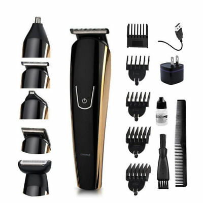 Men's Nose/Ear Hair Grooming Body Mustache Trimmer Rechargeable 5 in 1 Haircut