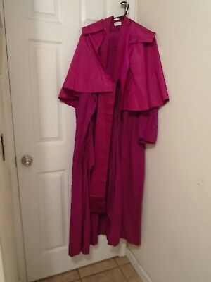 Bishop CASSOCK, CINCTURE AND CAPE  NECK 19 INCHES AND LENGTH IS 56 INCHES