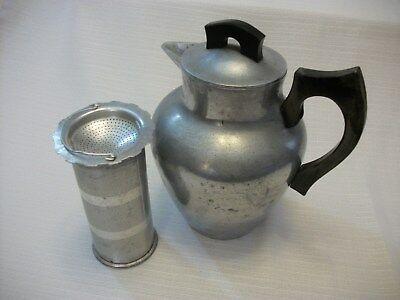 Vintage Master Heavy Cast Metal Coffee/Tea Pot with Metal Filter Rustic Camping