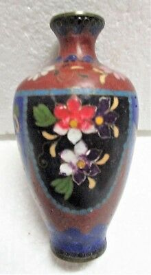 19Th Century Small Cloisonne Vase Probably Chinese No Damage
