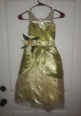 22d11a39b9 Girls Disney Store Princess Tiana Green Gown Costume Size Small 5 6