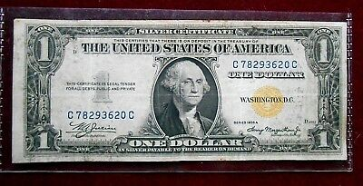 1935 A WWII Issue Yellow Seal $1 Silver Certificate. North Africa. Fr#2306 VF