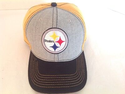 New Era NFL Pittsburgh Steelers 9FIFTY CAP HAT Men s Snapback Gold Gray  Black 61a880e93