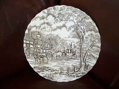 "Royal Mail Staffordshire Ware Myott Ironstone Dinner Plate 10"" England brown"