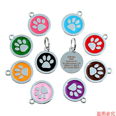 Custom Dog or Cat Id Tag Personalized Dog Cat Pet Disc Id Tags - Engraved Free