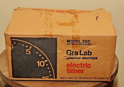 GraLab Model 300  Darkroom 60 Minute Timer with original box