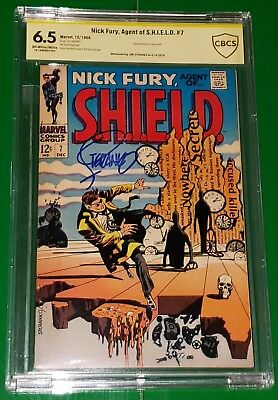 Jim Steranko Signed! Nick Fury, Agent Of S.h.i.e.l.d. #7 Cbcs 6.5! Marvel Shield