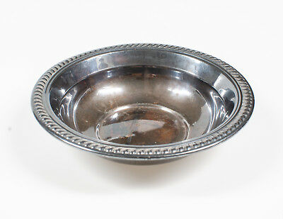 1800's F.M. ROGERS Beautifully Tarnished Silverplated Bowl 6 1/2 inch