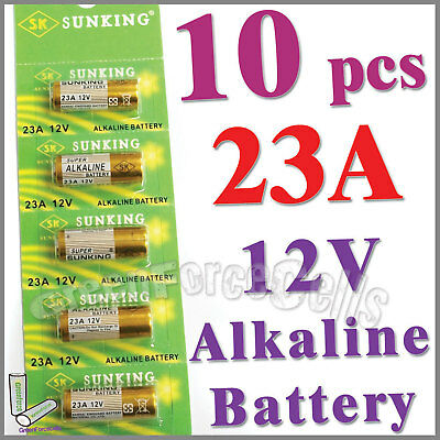 10 x 23A 12V 21/23 A23 23A MS21 23AE Alkaline Battery