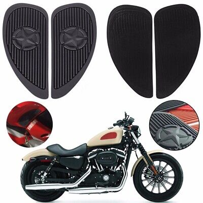 Pair Rubber Motorcycle Fuel Tank Side Knee Grip Traction Pad Protector