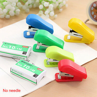 Cute Solid Color Mini Stapler Small Student Use For No. 10 Staples UK