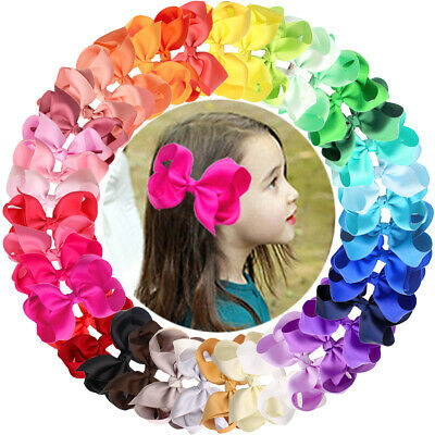 Lots 6 inch Hair Bows Baby Girls Headbands for Infant Newborn and Toddlers 20Pcs