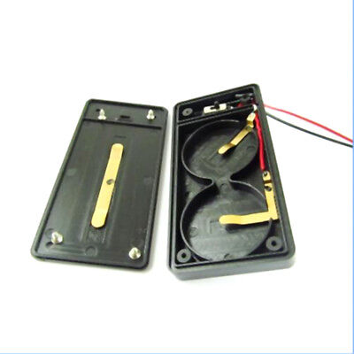 Battery holder case for cr2450 X2 button coin cell with wire lead switch