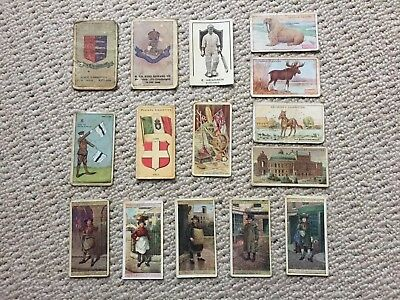 ANTIQUE CIGARETTE CARDS - Mix Bundle. Player. Gallaher. Sniders & Abraham. Wills